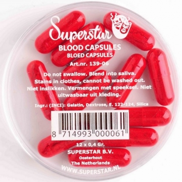 Superstar Bloedcapsules 12 st