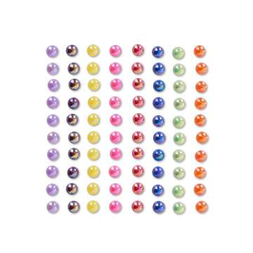 Schminkdecoratie stickers  Rainbow 6mm, 80 stuks